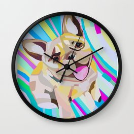 Frenchie Love Wall Clock