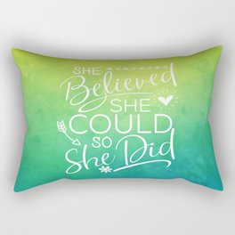she believed she could II Rectangular Pillow