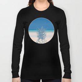 Pineapple Tropical Beach Design Long Sleeve T-shirt