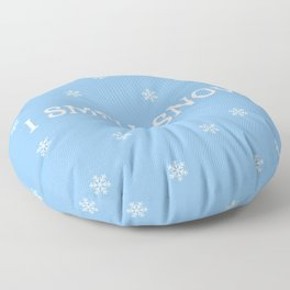 The Snow Lover Floor Pillow