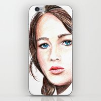 katniss iPhone & iPod Skins featuring Katniss. by Annie Mae Herring