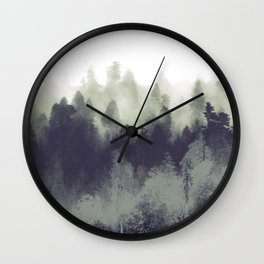 Mountain Forest Abstract Wall Clock