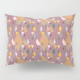Rhombuses on cocoa background, abstract seamless pattern Pillow Sham