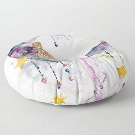 Swinging on a Star Floor Pillow