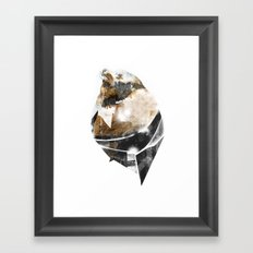 broken creature Framed Art Print