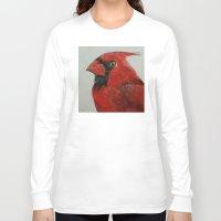 cardinal Long Sleeve T-shirts featuring Cardinal by Michael Creese