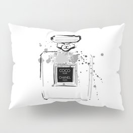 Black Perfume Pillow Sham