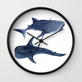 TWO WHALE SHARK Wall Clock