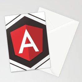 Angular Js developer sticker angularjs javascript framework Stationery Cards