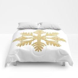 Gold Glitter Snowflake Comforters