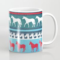 sweater Mugs featuring Sweater Unicorn by That's So Unicorny