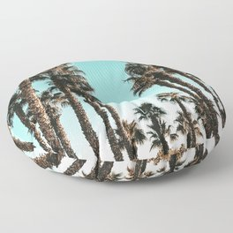 Palm Tree Days {1 of 2} Tropical Cali Art Print Floor Pillow