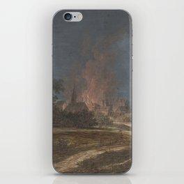 Brand in een dorp, Barbara Regina Dietzsch, Christoph Ludwig Agricola, 1716 - 1783 iPhone Skin