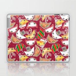 """Oro?"" Christmas WINE RED Laptop & iPad Skin"