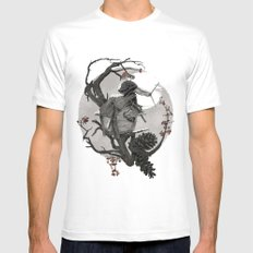 ÆFTERA YULE White Mens Fitted Tee MEDIUM