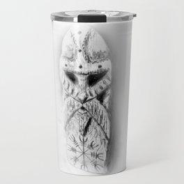 Norse Warrior carving - Helm of Awe Travel Mug