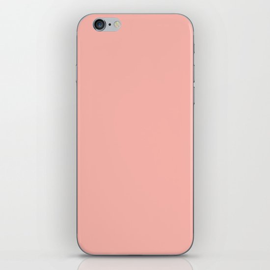 SOLID CORAL/PEACH iPhone & iPod Skin