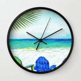 Casey Key Beach Life Wall Clock
