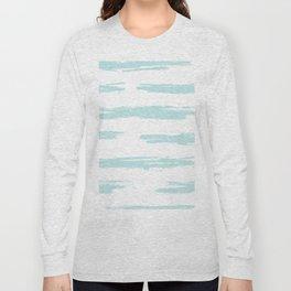 Swipe Stripe Succulent Blue and White Long Sleeve T-shirt