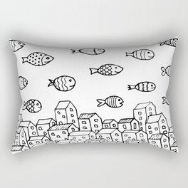 Underwater village Rectangular Pillow