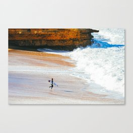 Surfer go-out, Winkipop/Bells Beach, Victoria, Australia Canvas Print