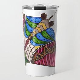 Colorful Stingray Travel Mug