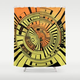 Futuristic technology abstract Shower Curtain