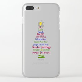 Holiday Tree Clear iPhone Case