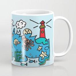 Sea Doodle World Animals by Pablo Rodriguez (Pabzoide) Coffee Mug