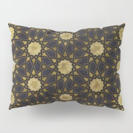 Islamic decorative pattern with golden artistic texture Pillow Sham