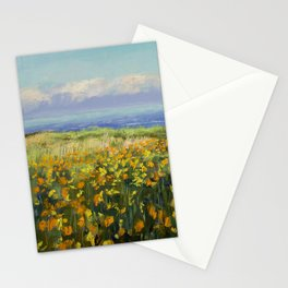 Seaside Poppies Stationery Cards