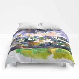 1906 - Paul Cezanne - The Garden at Les Lauves Comforters