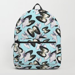 Unio Crassus Pattern in Light Blue Backpack
