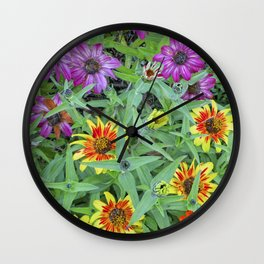 Flower Jamboree Wall Clock