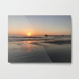 California Pier sunset in Oceanside Metal Print