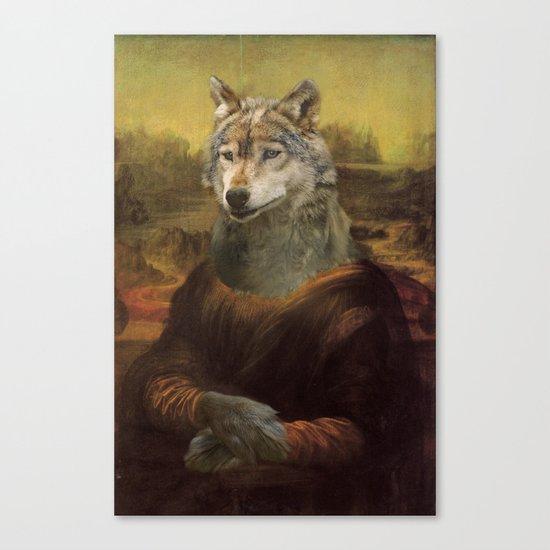 Furry Monnalisa  Canvas Print