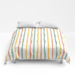 Stripes Stripped Pattern Muted Comforters