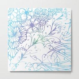 Floral Color Zenart Doodle Design 2 Metal Print