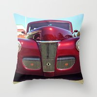 burgundy Throw Pillows featuring Burgundy beauty by Vorona Photography