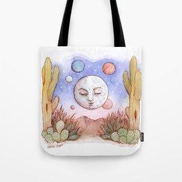 Desert Moon Watercolor Tote Bag