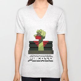 PA-PA-PAPERS, PLEASE!!! Unisex V-Neck