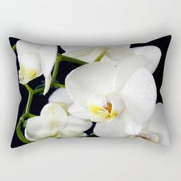 White Orchids Flowers Rectangular Pillow