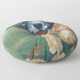 Wheaton Terrier Dog Portrait Floor Pillow
