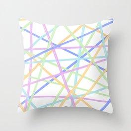 Neon Diagonals 1 Throw Pillow