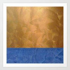 Copper Metallic With Tuscan Blue Stripe Trim Art Print