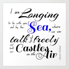 Castles In The Air - Book Quote from Dracula by Bram Stoker Art Print