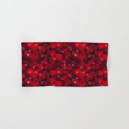 Abstract Red Hand & Bath Towel