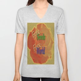 Right for a free and healthy World Unisex V-Neck