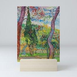 """Vincent van Gogh """"Parc de l'hôpital Saint-Paul"""" Mini Art Print"""