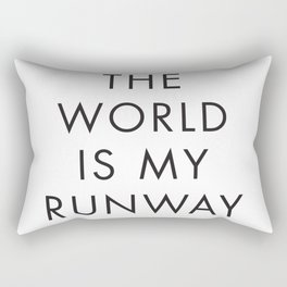 The World is my Runaway, Inspirational Quotes, Affiche Scandinave, Wall Art, Contemporary Print Rectangular Pillow